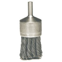 """Weiler® Knot Wire End Brush - Hollow-End Knot Wire End Brush, Stainless Steel, 22,000 rpm, 1 1/8"""" x 0.014"""" - 804-10031 - Weiler®"""
