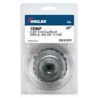 Weiler® Single Row Heavy-Duty Knot Wire Cup Brushes - Single Row Heavy-Duty Knot Wire Cup Brush, 2 3/4 in Dia., 5/8-11 UNC, .020 Steel - 804-13286P - Weiler®