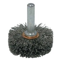 Weiler® Stem-Mounted Wide Conflex Brushes - Stem-Mounted Wide Conflex Brush, 1 1/2 in D x 1/2 W, .0118 Steel, 20,000 rpm - 804-17604 - Weiler®