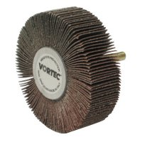 Weiler® Vortec Pro® Mounted Flap Wheels - Vortec Pro® Mounted Flap Wheels, 3 in x 1 in, 80 Grit, 23,000 rpm - 804-30727 - Weiler®