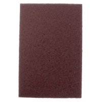Weiler® Non-Woven Hand Pads - Non-Woven Hand Pad, General Purpose, 6 in x 9 in, Medium/Coarse, Brown - 804-51444 - Weiler®