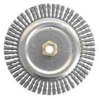 Weiler® Dually™ Stringer Bead Wheels - Dually™ Stringer Bead Wheel, 7 in D x 3/16 in W, .02 in Carbon Steel, 9,000 rpm - 804-79800 - Weiler®