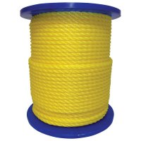 Orion Ropeworks Monofilament Twisted Poly Ropes - Monofilament Twisted Poly Ropes, 3,477 lb Cap., 600 ft, Polypropylene, Yellow - 811-350160-00600-R0285 - Orion Ropeworks