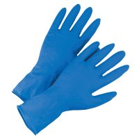 West Chester 2550 High Risk Examination Grade Latex Gloves - 2550 High Risk Examination Grade Latex Gloves, X-Large, 14 mil, Blue - West Chester - 813-2550/XL