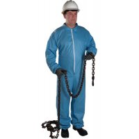West Chester FR Protective Coveralls - FR Protective Coveralls, Blue, 3XL, w/Hood, Elastic Wrists/Ankles, Zip Front - 813-3106/3XL - West Chester