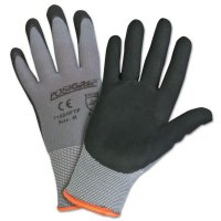 West Chester Micro Foam Nitrile Coated Gloves - Micro Foam Nitrile Coated Gloves, Large, Black/Gray, 9 3/8 in, Palm Coated - West Chester - 813-715SNFTP/L