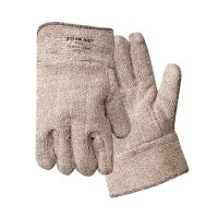Wells Lamont Jomac Brown & White Safety Cuff - Jomac Brown and White Safety Cuff Gloves, Terry Cloth, X-Large - 815-644HR - Wells Lamont