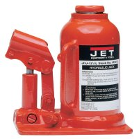Jet® JHJ Series Heavy-Duty Industrial Bottle Jacks - JHJ Series Heavy-Duty Industrl Bottle Jack, 4 1/8Wx6 1/2Lx9 1/2-18 1/2H,12.5 ton - 825-453312 - JPW Industries