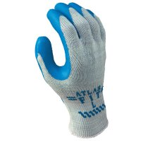 SHOWA® Atlas Fit® 300 Rubber-Coated Gloves - Atlas Fit 300 Rubber-Coated Gloves, Small, Blue/Gray - 845-300S-07 - SHOWA®
