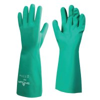 SHOWA® Nitrile Disposable Gloves - Nitrile Disposable Gloves, 15 mil, Size 11/2X-Large, Light Green - 845-727-11 - SHOWA®