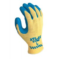SHOWA® Atlas® Rubber Palm-Coated Gloves - Atlas Rubber Palm-Coated Gloves, Medium, Blue/Yellow - SHOWA® - 845-KV300M-08