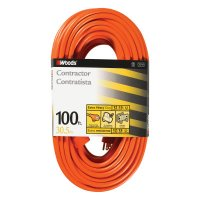 Woods Wire Outdoor Round Vinyl Extension Cords - Outdoor Round Vinyl Extension Cord, 100 ft - 860-530 - Woods Wire
