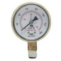 Best Welds Replacement Gauges - Replacement Gauges, 2 in, 4,000 psi, Brass, 1/4 in (NPT) - 900-B24000 - Best Welds