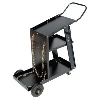 Best Welds MIG Welding Carts - MIG Welding Carts, 12 1/4 in x 33 in, 3 Shelves, 125 lb Capacity, Black - 900-WC-1228 - Best Welds