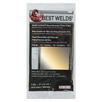Best Welds Gold Coated Filter Plate - Gold Coated Filter Plate, Gold/10, 2 in x 4.25 in, Polycarbonate - 901-932-109-10 - Best Welds