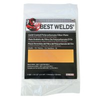 Best Welds Gold Coated Filter Plate - Gold Coated Filter Plate, Gold/8, 4.5 x 5.25, Polycarbonate - 901-932-110-8 - Best Welds