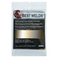 Best Welds Gold Coated Filter Plate - Gold Coated Filter Plate, Gold/9, 4.5 in x 5.25 in, Polycarbonate - 901-932-110-9 - Best Welds