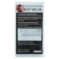 Best Welds Plastic Magnifier Plate - Plastic Magnifier Plate, 2 in x 4.25 in, 1.25 Diopter, Polycarbonate, Clear - 901-932-146-125 - Best Welds