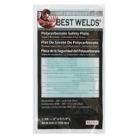 Best Welds Safety Plate - Safety Plate, 2 in x 4.25 in, Polycarbonate, Clear - 901-932-440 - Best Welds