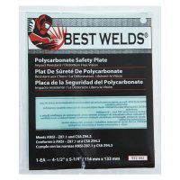 Best Welds Safety Plate - Safety Plate, 4.5 in x 5.25 in, Polycarbonate, Clear - 901-932-442 - Best Welds