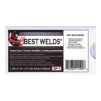 Best Welds Cover Lens - Cover Lens, Scratch/Static Resistant, 4 1/4 in x 2 in, 70% CR-39 Plastic - 901-SP-1 - Best Welds