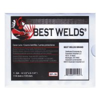 Best Welds Cover Lens - Cover Lens, Scratch/Static Resistant, 4 1/2 in x 5 1/4 in, 70% CR-39 Plastic - 901-SP-35 - Best Welds