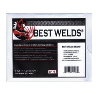 Best Welds Cover Lens - Cover Lens, Scratch/Static Resistant, 5 1/4 in x 4 1/2 in, 100% CR-39 Plastic - 901-SP-45 - Best Welds