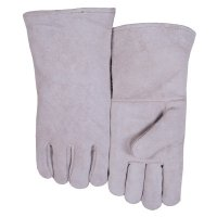 Best Welds Leather Welder's Gloves - Leather Welder's Gloves, Shoulder Split Cowhide, Large, Gray - 902-200GC - Best Welds