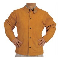 Best Welds Split Cowhide Leather Welding Jackets - Q-Line Leather Jacket, X-Large, Golden Brown - Best Welds - 902-Q-1-XL