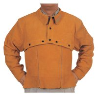 Best Welds Leather Cape Sleeves - Leather Cape Sleeves, Snaps Closure, Large, Golden Brown - 902-Q-2-L - Best Welds