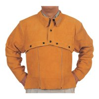 Best Welds Leather Cape Sleeves - Leather Cape Sleeves, Snaps Closure, Medium, Golden Brown - 902-Q-2-M - Best Welds