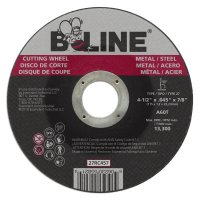 "Bee Line Abrasives Depressed Center Cut-Off Wheels - Depressed Center Cut-Off Wheel, 4 1/2"" Dia, .045"" Thick, 7/8"" Arbor, 46 Grit - 903-27RC457 - Bee Line"