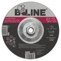 B-Line Abrasives Depressed Center Combo Wheels - 7 x 1/8 B-Line Type 27 Cut/Grind Combo Wheel A30S 7/8 A.H. - 903-27RC778 - B-Line