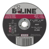 "B-Line Abrasives Cutting Wheels - Cutting Wheel, 3""dia, 0.035 Thick, 3/8"" Arbor, 60, Aluminum Oxide,T - 903-303538 - B-Line"