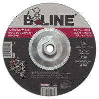 "Bee Line Abrasives Depressed Center Grinding Wheels - Depressed Center Grinding Wheel, 7"" Dia, 1/4"" Thick, 5/8-11"" Arbor, 24 Grit - 903-747T - Bee Line"