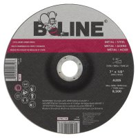 "Bee Line Abrasives Depressed Center Grinding Wheels - Depressed Center Grinding Wheel, 7"" Dia, 1/8"" Thick, 5/8-11"" Arbor, 24 Grit - 903-787T - Bee Line"