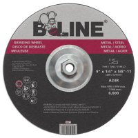 "Bee Line Abrasives Depressed Center Grinding Wheels - Depressed Center Grinding Wheel, 9"" Dia, 1/4"" Thick, 5/8-11"" Arbor, 30 Grit - 903-947T - Bee Line"